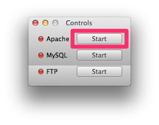 Apache start