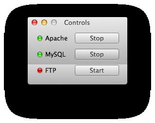 Apache と MySQL を起動