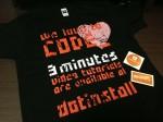 3分動画のプログラミング学習サイト「ドットインストール」のTシャツが届きました! #dotinstall