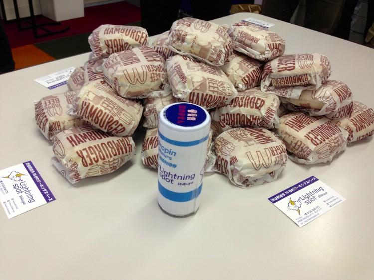 山積みのハンバーガー