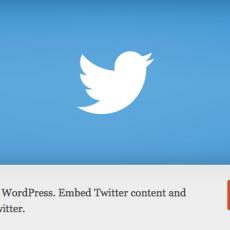 [WordPress] Twitter公式プラグインがリリース