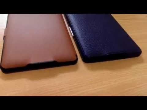 Inateck Kindle Paperwhite用 Microfibril PU レザーケース&Amazon純正カバー外観比較(背面)