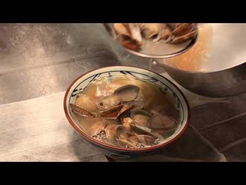 丸亀製麺「春のあさりうどん」調理の様子