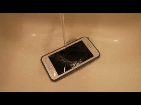 Eonfine iPhone 6 Plus防水ケース 水で濡らしたあとの指紋認証確認