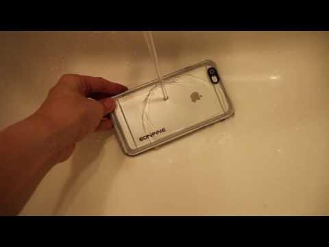 Eonfine iPhone 6 Plus防水ケース 水で濡らしてみる