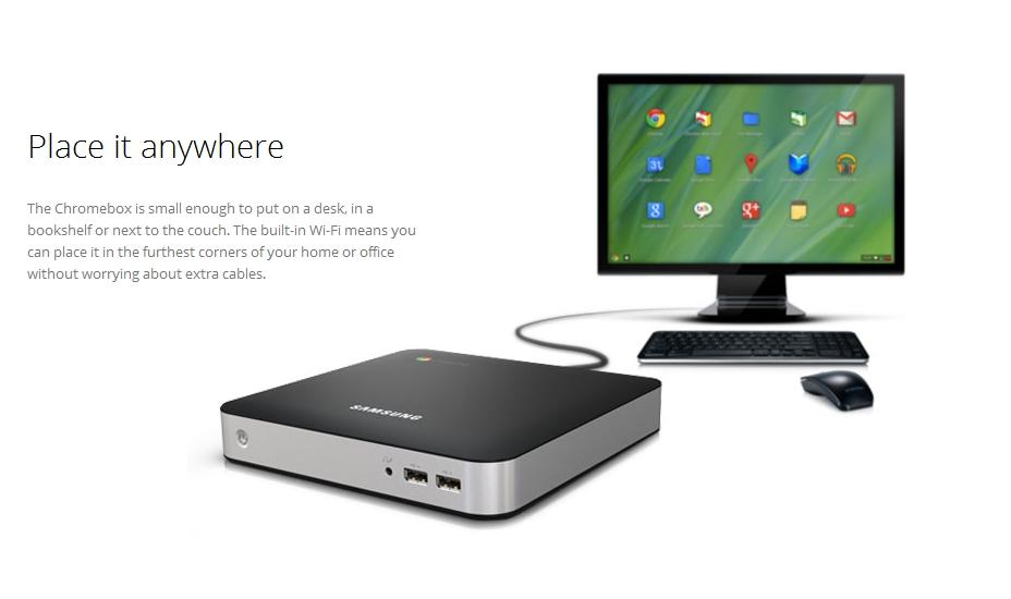 ChromeOSのデスクトップ機「Chromebox」登場!ChromeOSはWindows風へ