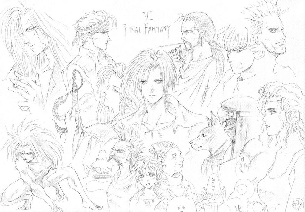 FFV&VI開発当時の野村哲也氏による落書きイラストが発掘される