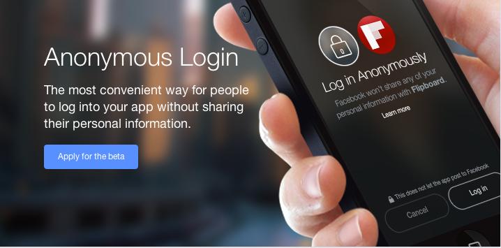 Facebook、Graph API 2.0で匿名ログインが可能に。個人情報へのアクセス許可も強化