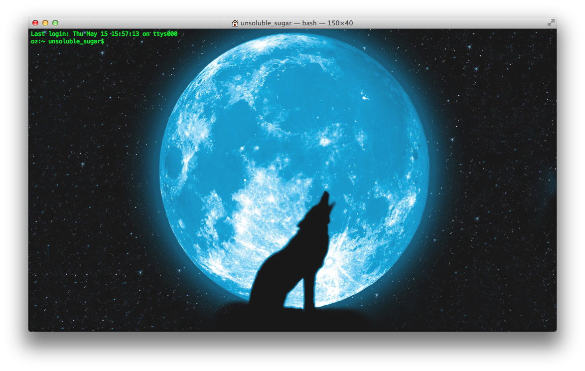 Macのターミナルの背景を好きな画像に変えてテンションを上げよう