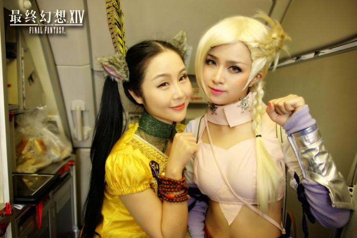 【海外】中国の春秋航空、新生FFXIVとコラボしたコスプレ便を就航