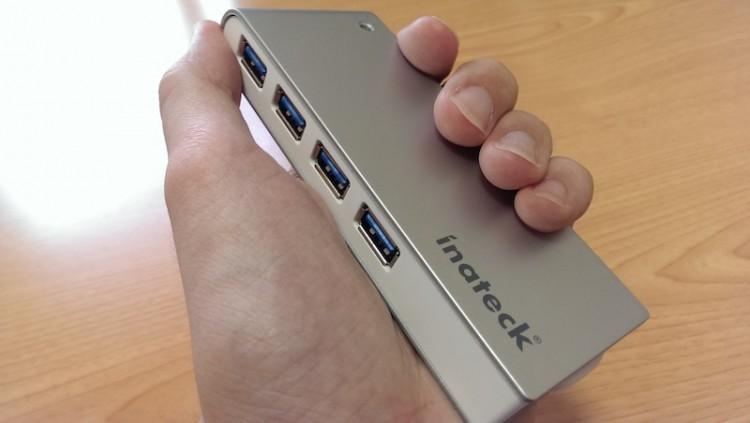 Inateck USB3.0 高速ハブ 4ポート ケーブル収納型 ポータブルバスパワー