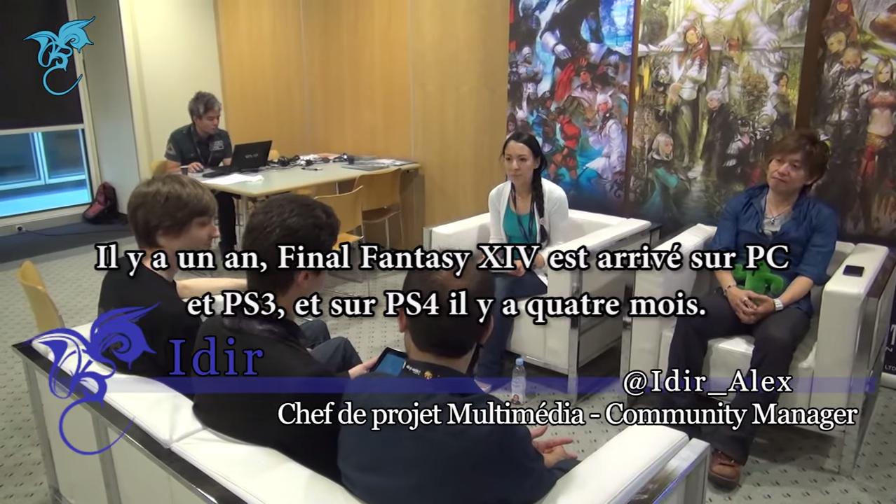 【海外】Japan Expo 2014 新生FFXIV吉田プロデューサーインタビュー動画(Final Fantasy Dream)