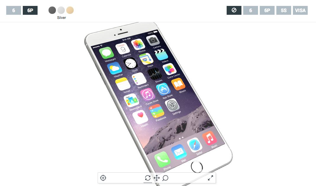大きさ比較もできるぞ!iPhone 6&iPhone 6 Plusの3Dモデルをぐりぐり動かせるサイトが登場