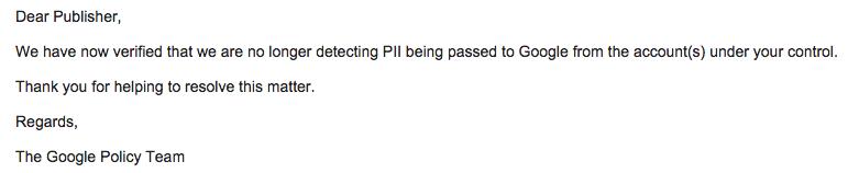 Googleから来た「Policy Breach Notice」という件名のメールは誤送信?閏年の計算おかしいんじゃないの疑惑
