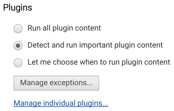重要ではないFlashコンテンツはデフォルトで停止に。Google ChromeでFlashが動作しない時に確認する設定