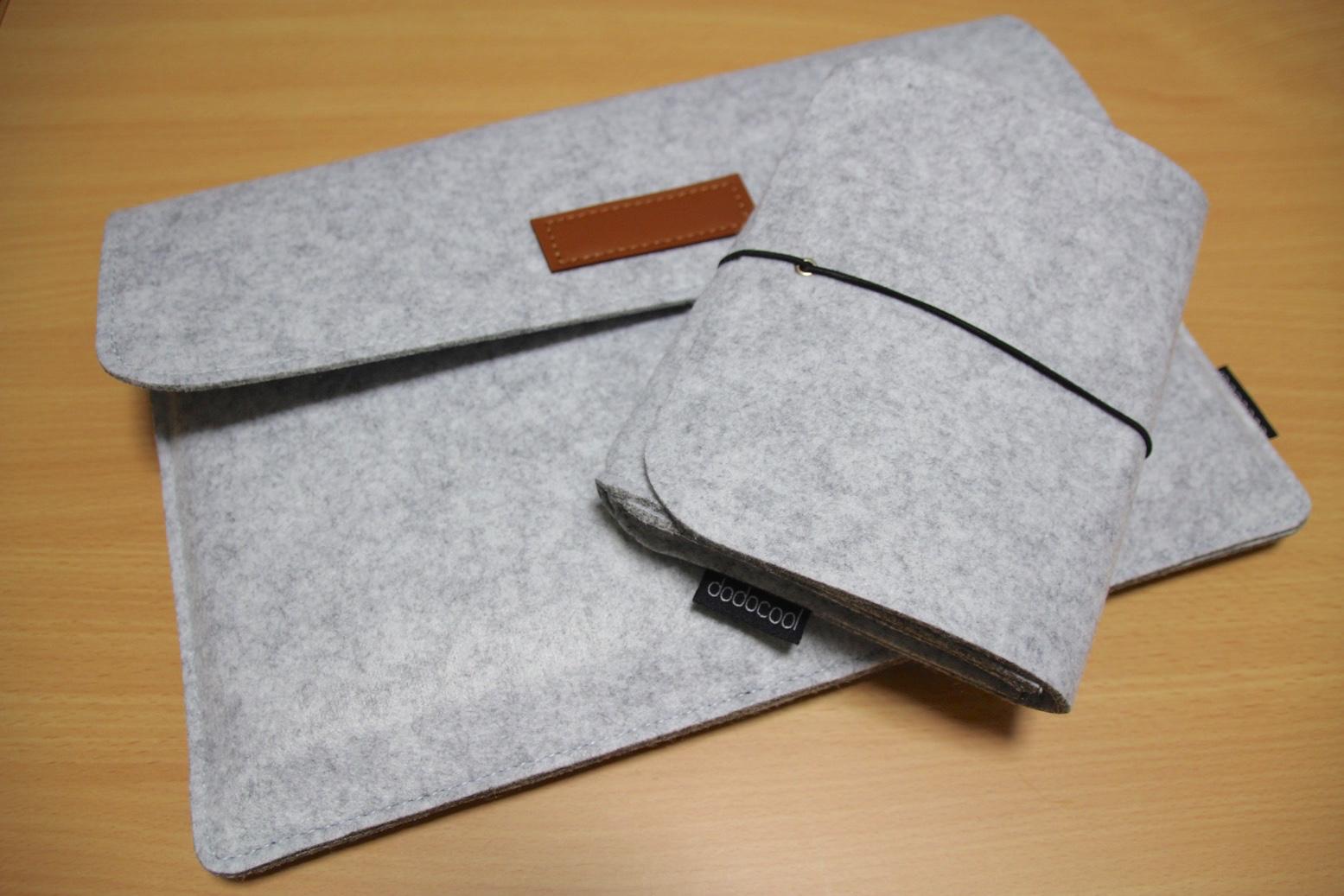 薄くて軽いフェルト素材を採用。dodocool 12インチノートPC&タブレット保護スリーブケース