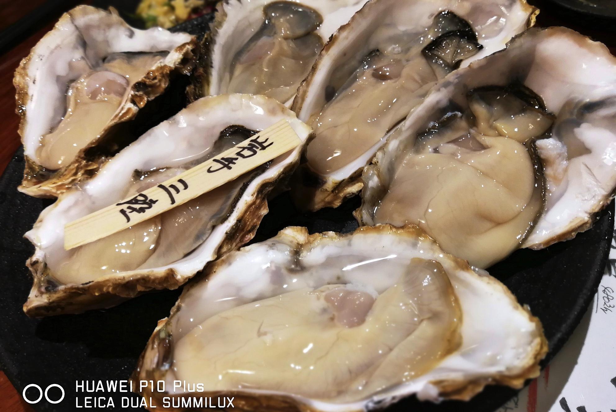渋谷『牡蠣貝鮮かいり』のウマい貝をHUAWEI P10 Plusで撮ってみた
